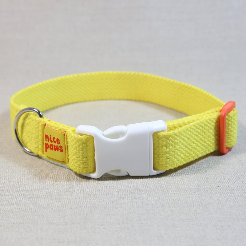 Cotton Collar - Yellow/White/Orange - (M)