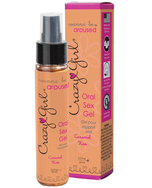 Wanna Be Aroused Oral Sex Gel - 2.2 Oz Caramel Kiss