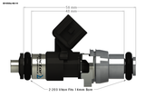 Injector Dynamics ID1050x Injectors - 1050.48.14.R35.6 - Imagine Motorsports