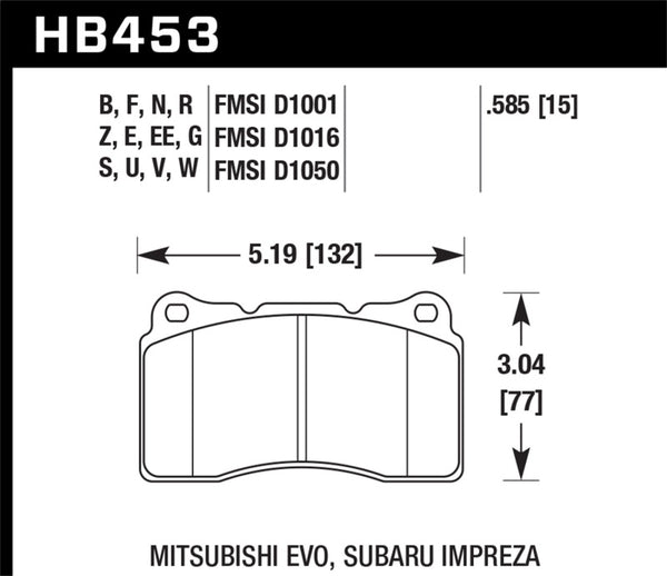 Hawk HPS Brake Pads HB453 - Imagine Motorsports
