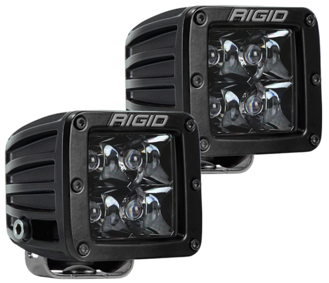 Rigid Industries D-Series Midnight Edition - Spot - Set of 2 - Imagine Motorsports