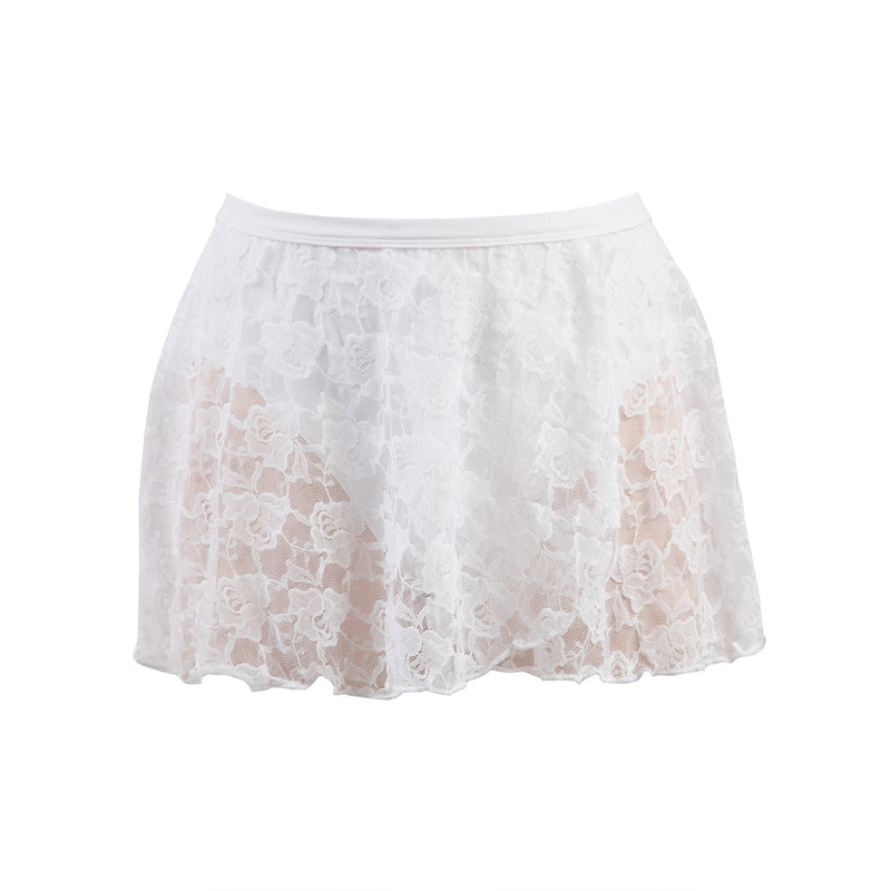 Mock Wrap Lace Skirt AS37