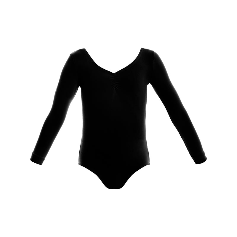 Long Sleeve Gathered Leotard CL05