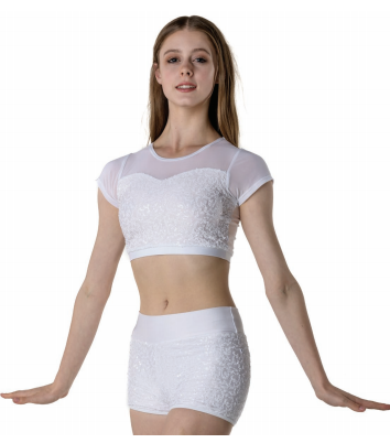 Attitude Sequin Crop Top ADCT08