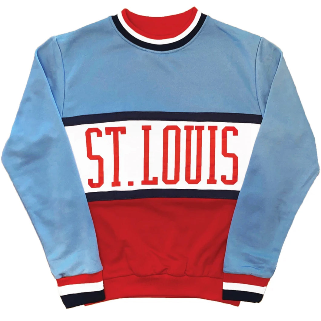 Retro 80s Color Block Crewneck Unisex Sweatshirt