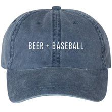 Beer + Baseball Unisex Hat - Blue Jean
