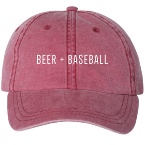 Beer + Baseball Unisex Hat - Red