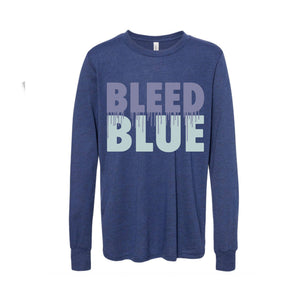 Bleed Blue Long Sleeve Youth T-Shirt