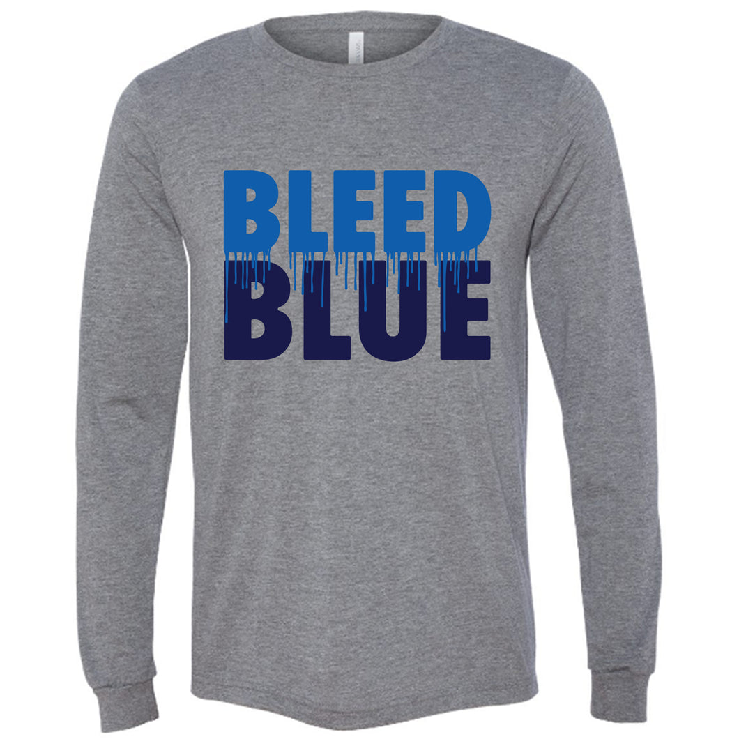 Bleed Blue Long Sleeve Unisex T-Shirt
