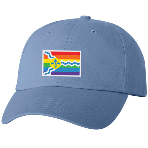 St. Louis Pride Flag Unisex Soft Style Hat - Light Blue