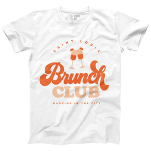 Brunch Club Short Sleeve Unisex T-Shirt - White