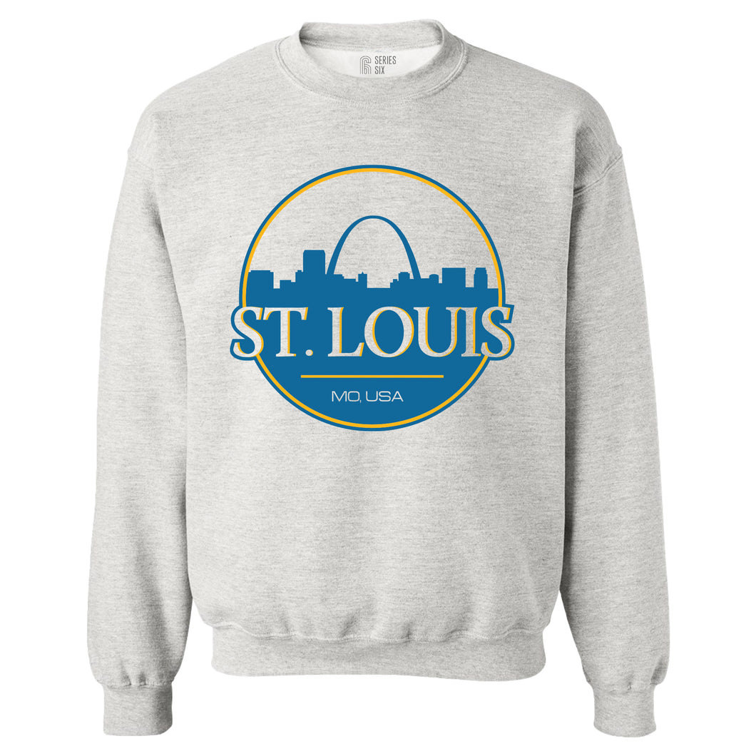 St. Louis Can Unisex Crewneck Sweatshirt - Ash Grey