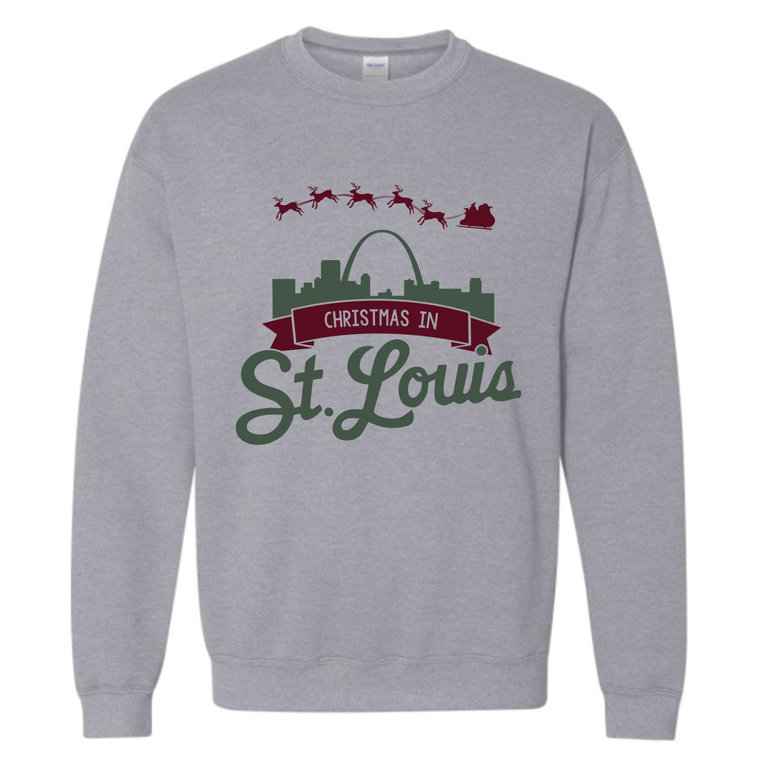 Christmas in St. Louis Unisex Crewneck Sweatshirt - Grey