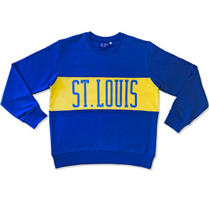St. Louis Color Block Crewneck Unisex Sweatshirt