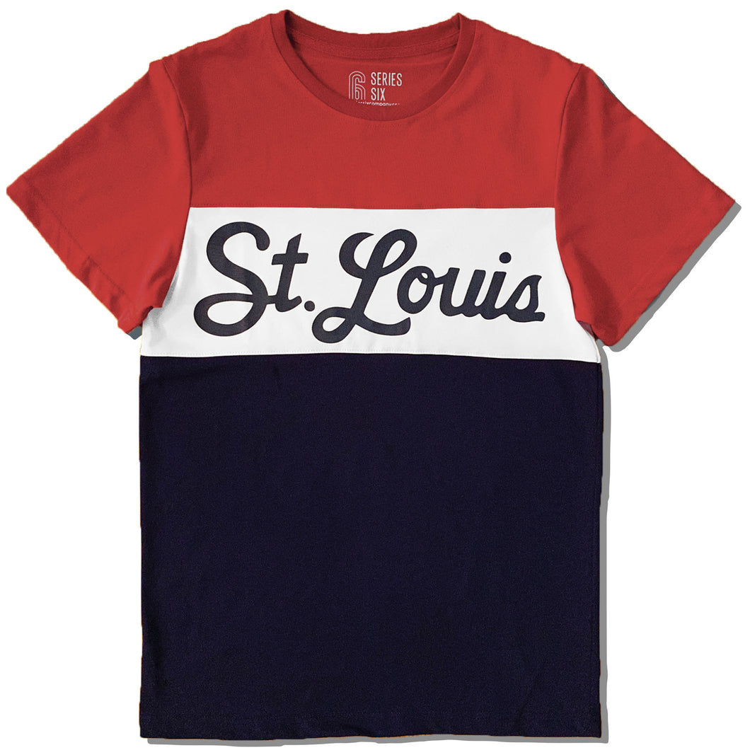 St. Louis Color Block Unisex Short Sleeve T-Shirt
