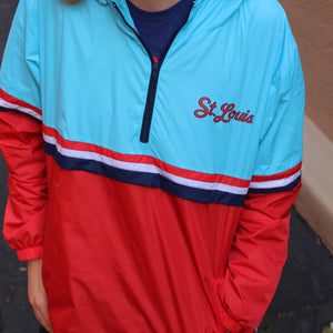 Retro Unisex Anorak Windbreaker - Powder Blue