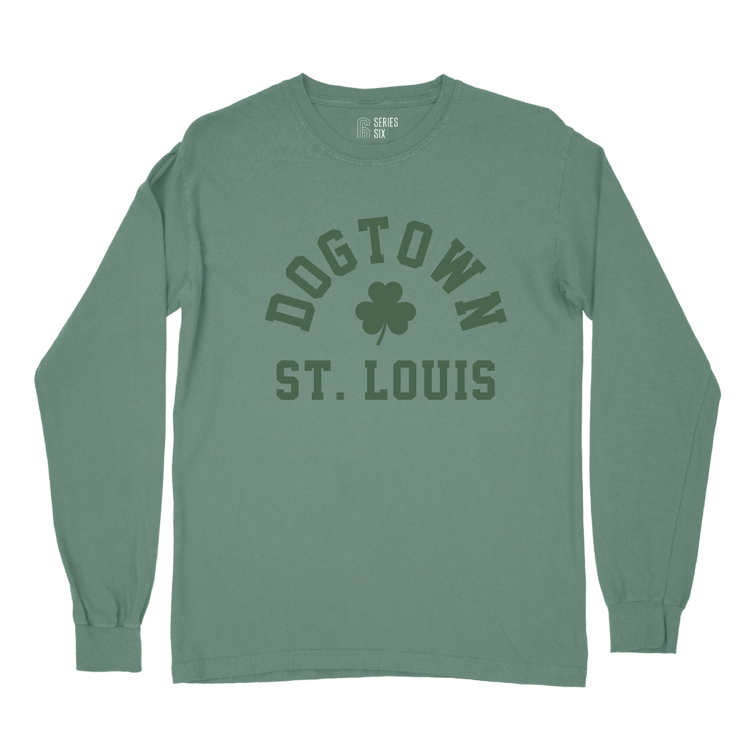 Dogtown St. Louis St. Patrick's Day Long Sleeve Unisex T-Shirt - Green
