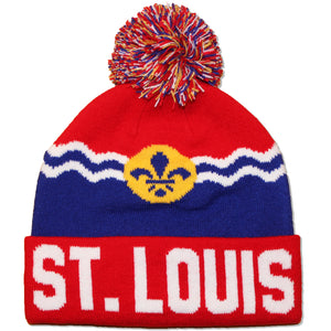 St. Louis Flag Knit Beanie Hat