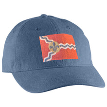 St. Louis Flag Faded Unisex Hat - Blue Jean