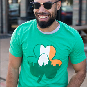Shamrock Skyline Flag St. Patrick's Day Short Sleeve Unisex T-Shirt