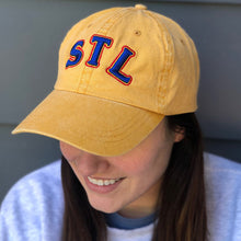Load image into Gallery viewer, STL Throwback Unisex Hat - Gold