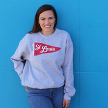 Load image into Gallery viewer, St. Louis Pennant Unisex Crewneck Sweatshirt - Grey