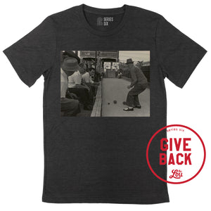 The Hill Bocce Photo Unisex Short Sleeve Shirt - Black