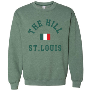 The Hill St. Louis Crewneck Unisex Sweatshirt - Green