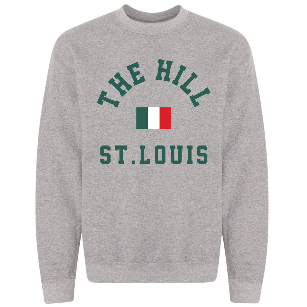 The Hill St. Louis Crewneck Unisex Sweatshirt - Gray