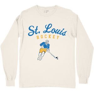 Vintage St. Louis Hockey Unisex Long Sleeve T-Shirt