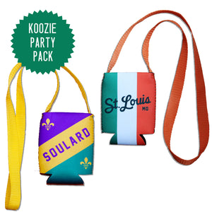 Lanyard Can Hugger Party Pack - Mardi + St. Pat's