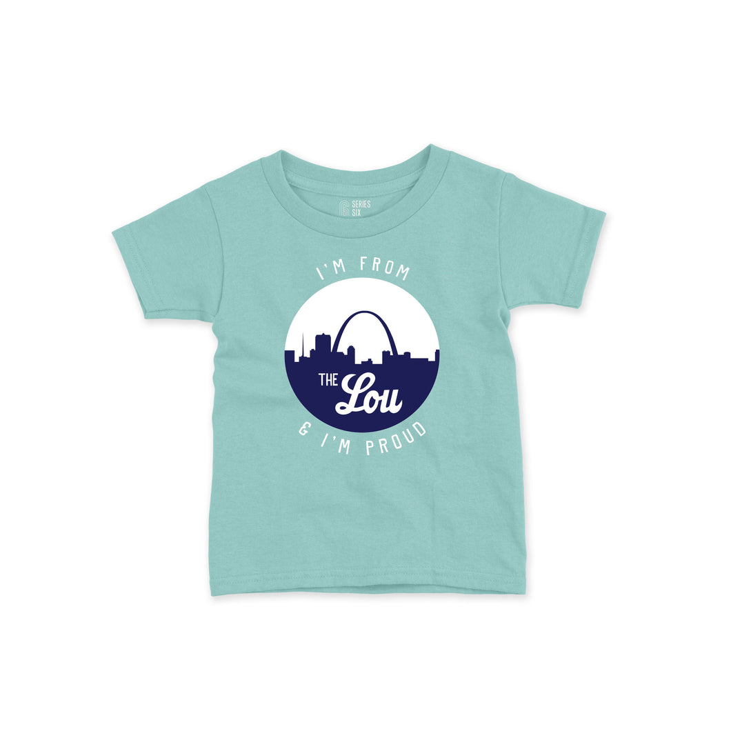 I'm From the Lou and I'm Proud Toddler T-Shirt - Mint