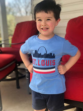 St. Louis Retro Skyline Toddler T-Shirt - Powder Blue
