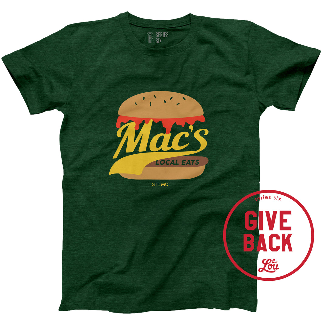 Mac's Local Eats Unisex Short Sleeve T-Shirt
