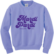 Load image into Gallery viewer, Mardi Pardi Crewneck Unisex Sweatshirt - Purple
