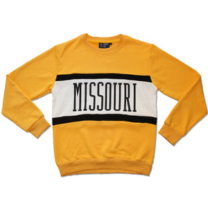 Missouri Color Block Crewneck Unisex Sweatshirt