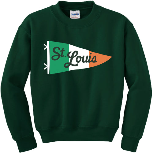 Irish Pennant Crewneck Unisex Sweatshirt - Forest