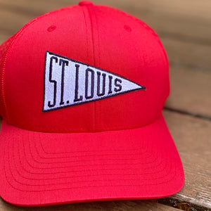 St. Louis Pennant Snapback Trucker Hat - Red