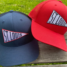 Load image into Gallery viewer, St. Louis Pennant Snapback Trucker Hat - Navy