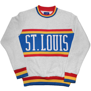 Retro Color Block Crewneck Unisex Sweatshirt
