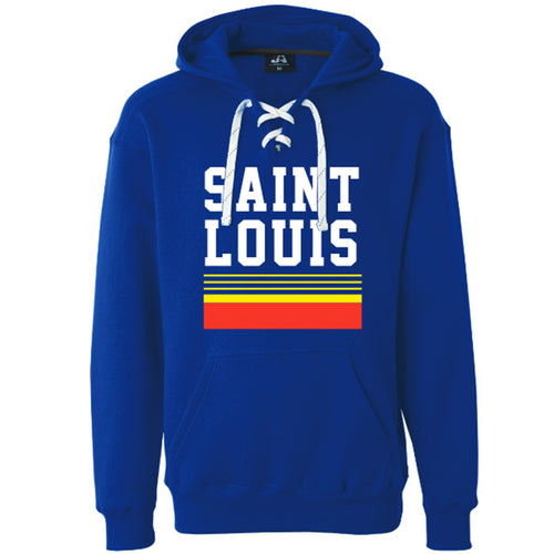 Retro Saint Louis Lace Up Hooded Unisex Sweatshirt