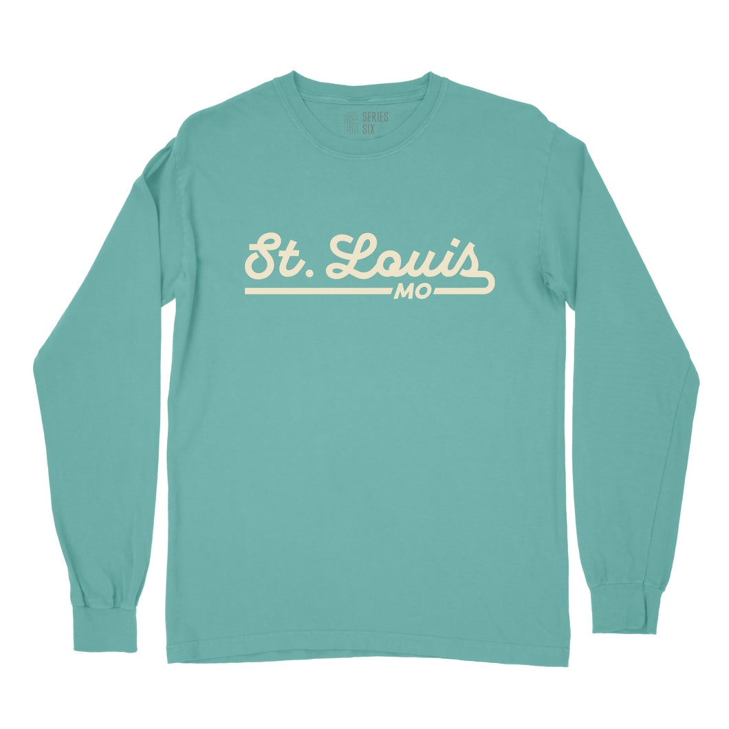 St. Louis Retro Script Unisex Long Sleeve T-Shirt - Mint