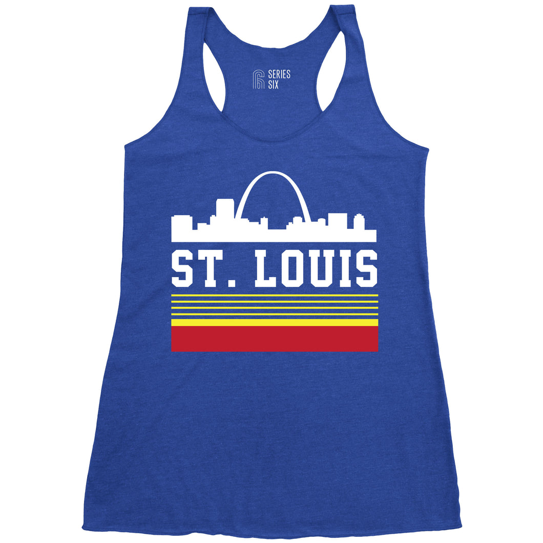 Retro Skyline Ladies Racerback Tank