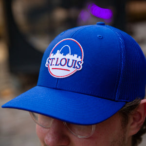 St. Louis Can Patch Snapback Trucker Hat - Royal