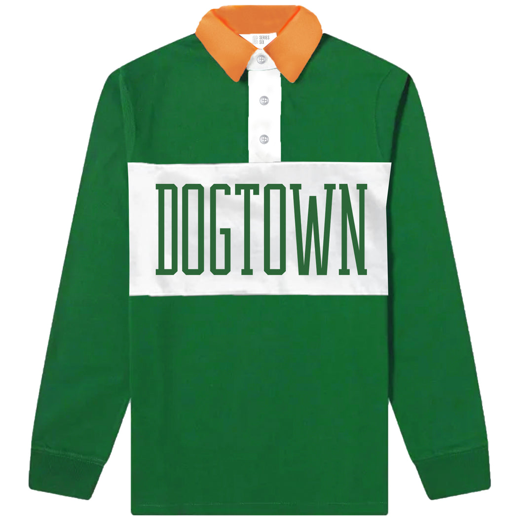 Dogtown Unisex Color Block Rugby Shirt