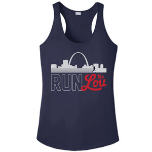 Run the Lou Women's Performance Racerback Tank