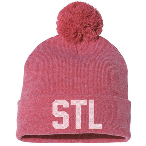 STL Knit Beanie Hat - Red