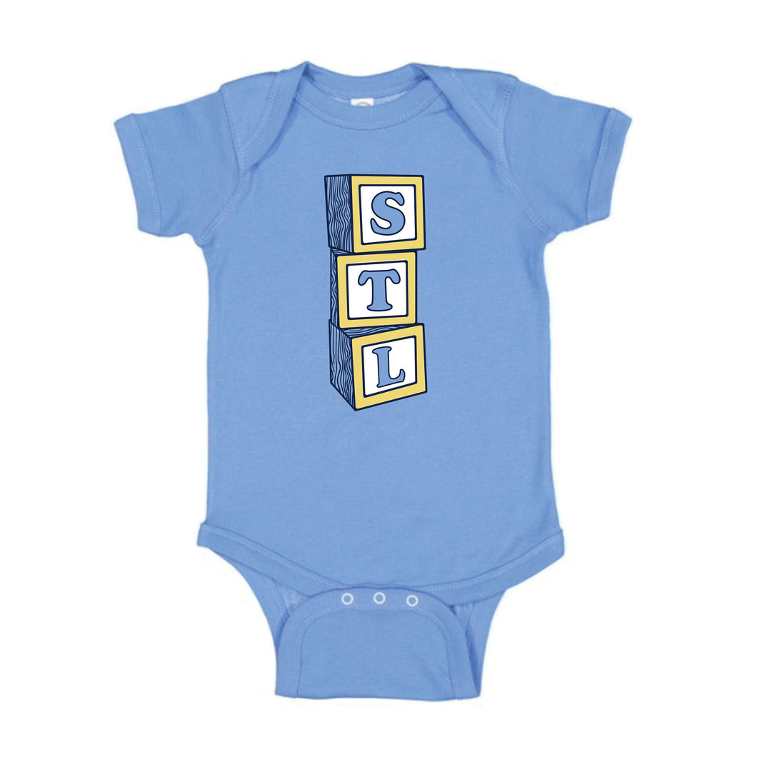 STL Blocks Baby Onesie