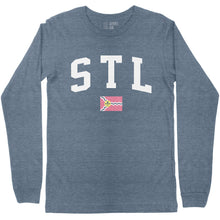 Load image into Gallery viewer, STL Flag Long Sleeve Unisex T-Shirt