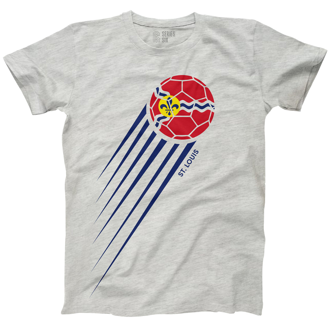Soccer St. Louis Flag Short Sleeve Unisex T-Shirt